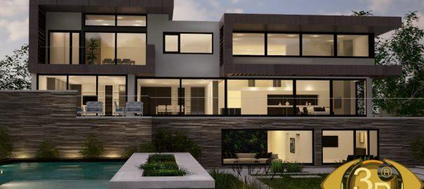 3D визуализация экстерьера дома