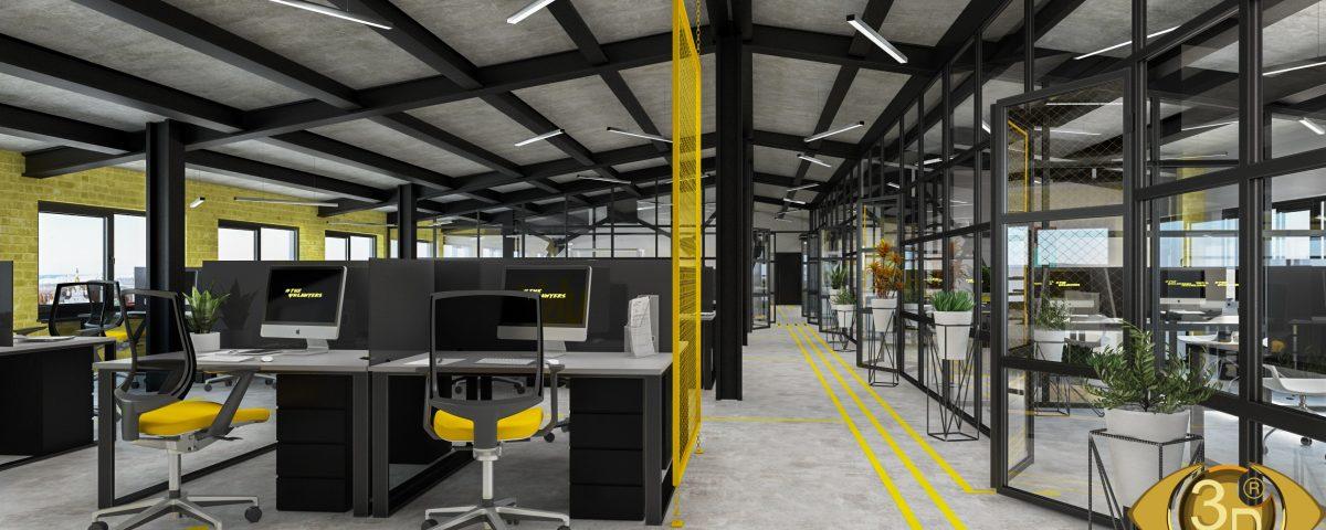 3D визуализация интерьера офиса