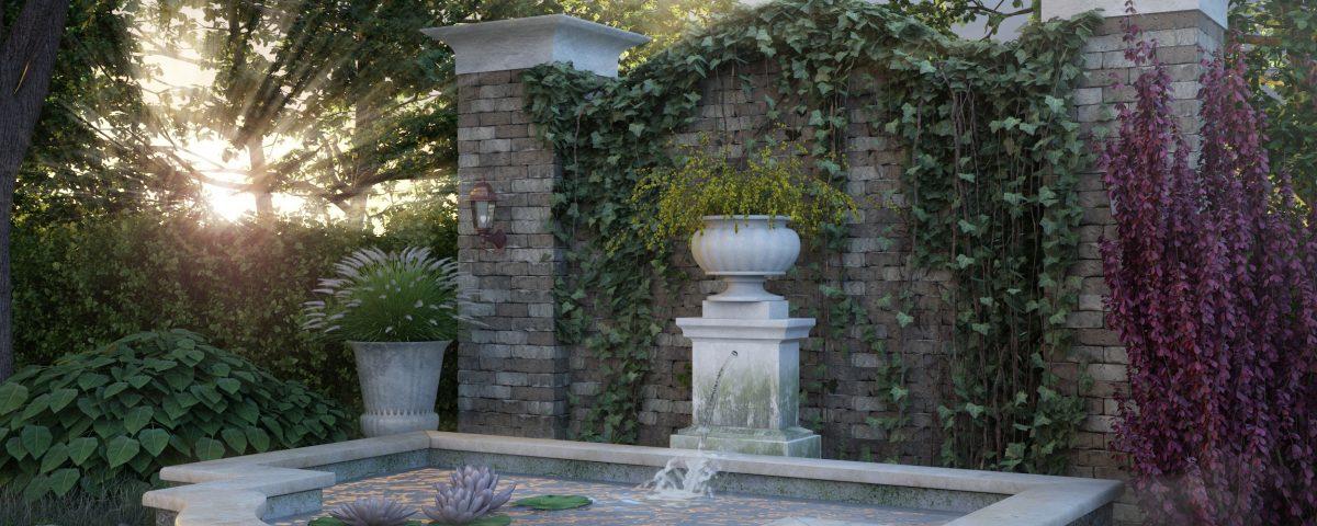 3D Визуализация фонтана
