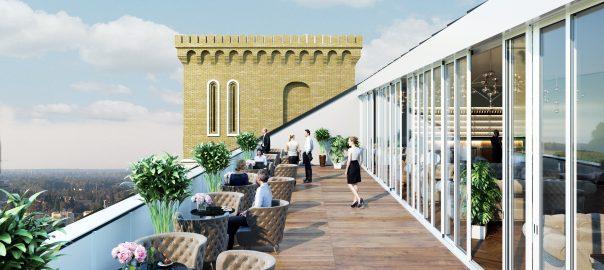 3D Визуализация кафе на крыше