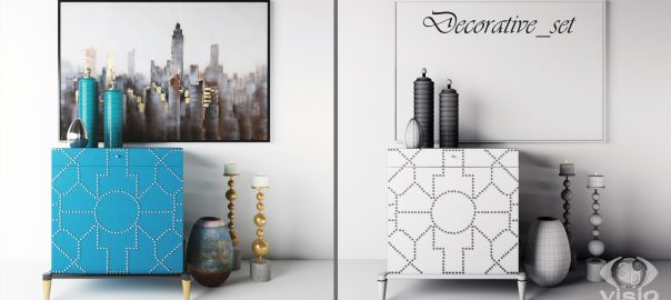 3D-модели: Декоративный набор фирм Uttermost, Shoploft