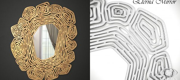 Создание 3D-модели объектов: Зеркало Eterna фирмы Cazarina Interiors