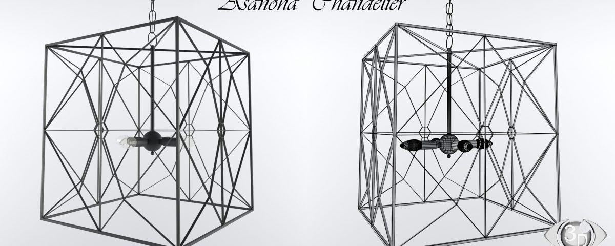 Моделирование объекта: Люстра Asanoha фирмы Currey & Company