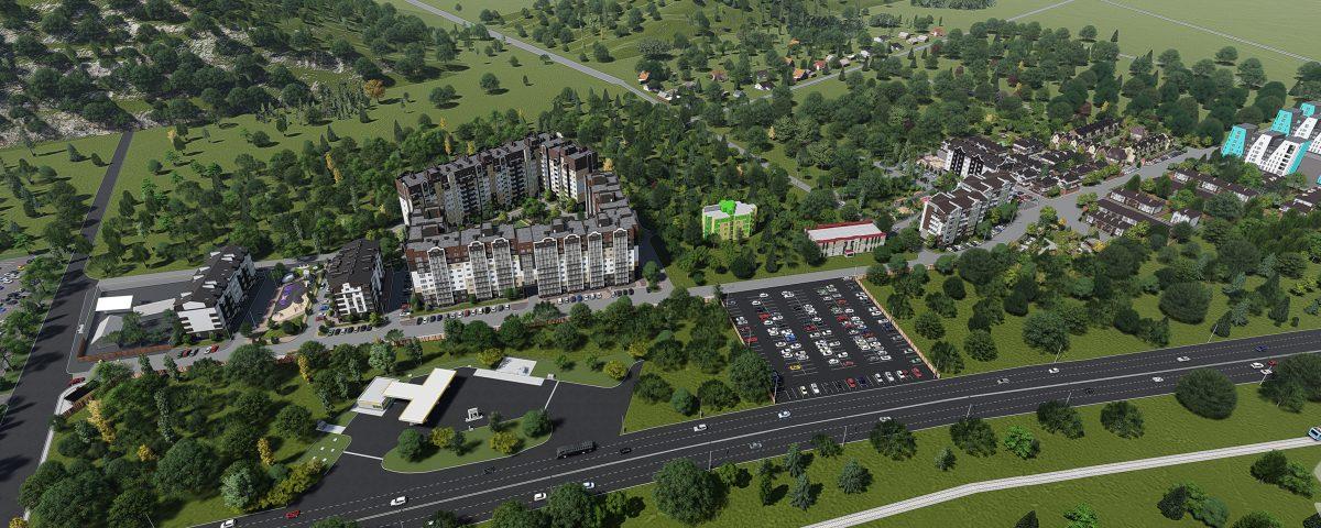 3D визуализация жилого комплекса