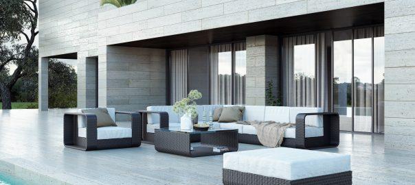 Садовая мебель из ротанга.