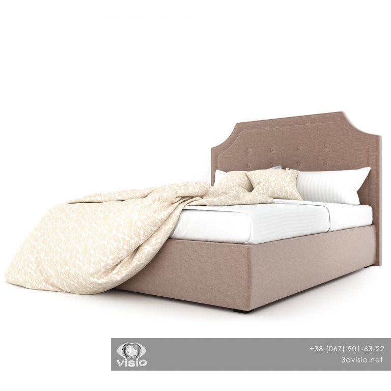 3Д модель кровати Мэнсфилд