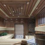 Визуализация бани в загородном доме