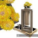 Декоративный набор фирмы Uttermost с хризантемами