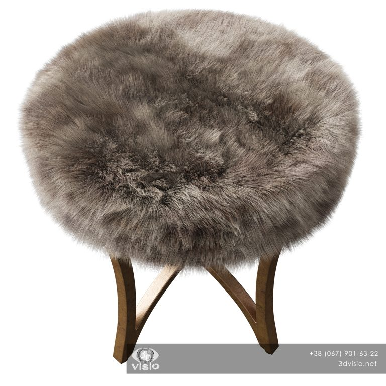 3д модель пуфа Bernett Accent Stool