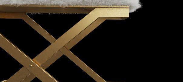 3д модель скамьи Farran фирмы Uttermost