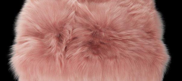 HomePop Decorative Faux Fur Square Ottoman