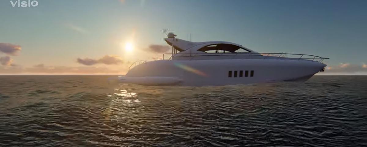 Корабль 3D-анимация. Lumion