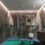 Визуализация ванной комнаты для подростка